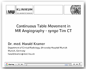 Continuous Table Movement in MR Angiography - syngo Tim CT